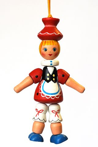 Wooden figurine Red riding hood