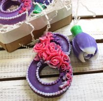 Set of handmade soap Flowers for March 8