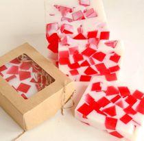 Strawberry Marshmallow 1kg bar - handmade soap