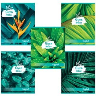 Notebook A5, 48 sheets, BRAUBERG, cage, cardboard cover, GREEN NATURE