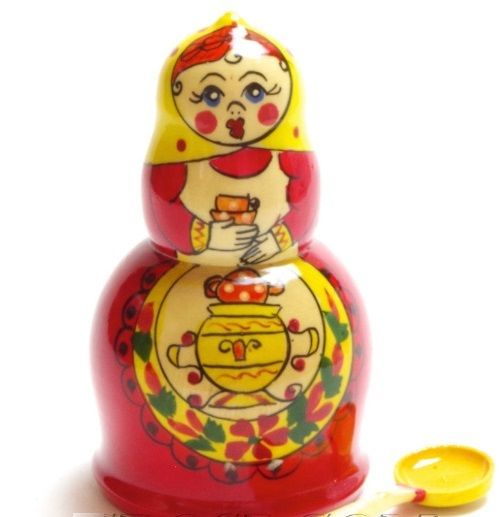 "Semenovskaya painting / ""Teapot"" - a souvenir-case for tea"
