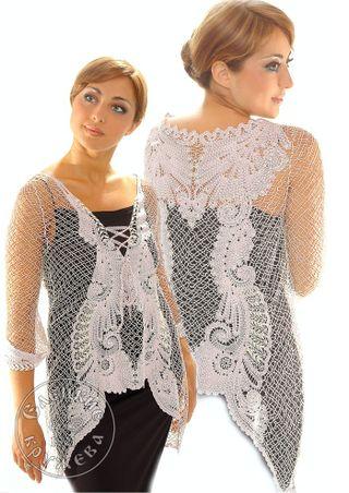 Women's chiffon blouse lace
