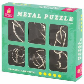 Puzzles metallic GOLD WORK (profi level), set of 6 pieces