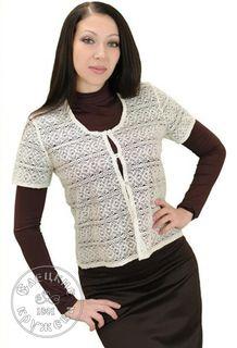 Women's chiffon blouse lace С479