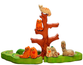 Cats on the Tree puzzle is a colorful educational toy (handmade)