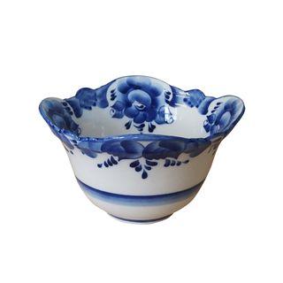 Bowl average 2nd grade, Gzhel Porcelain factory