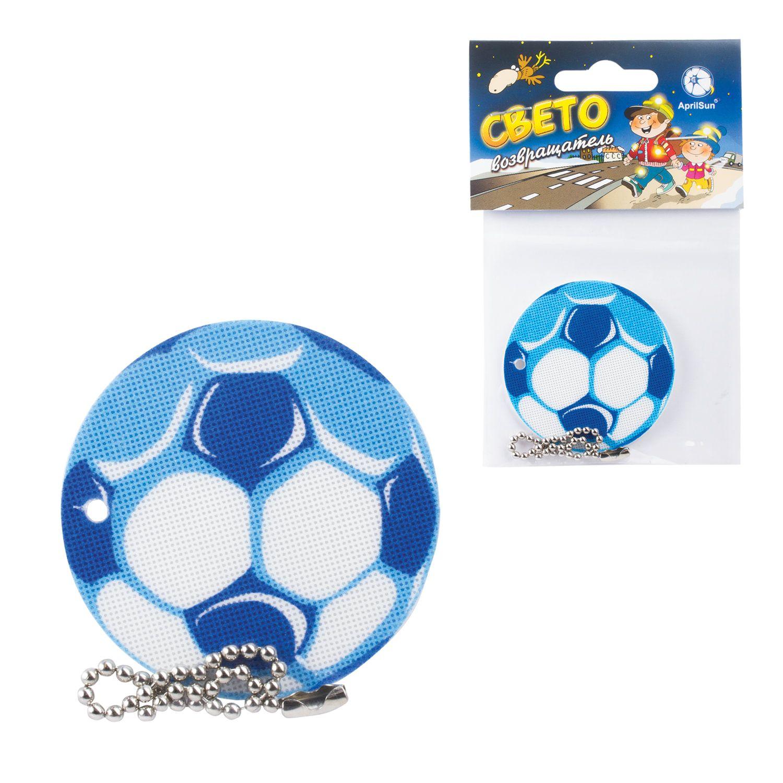 "AprilSun / Pendant-pendant reflective ""soccer ball blue"" 50 mm"