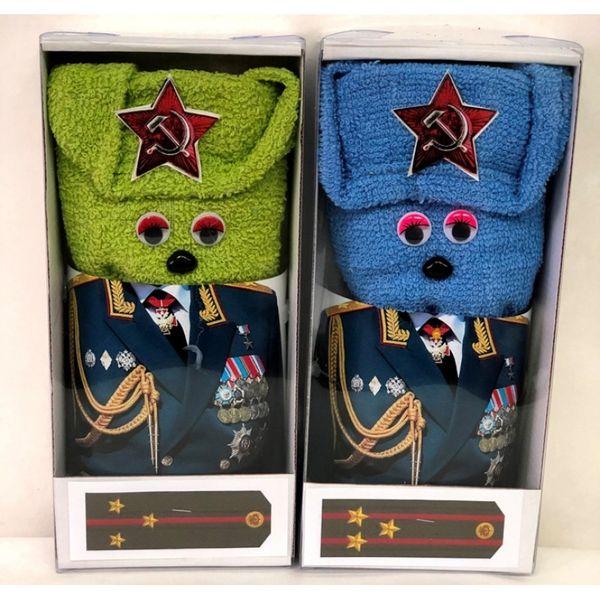 "Towel terry ""General"" in gift package"