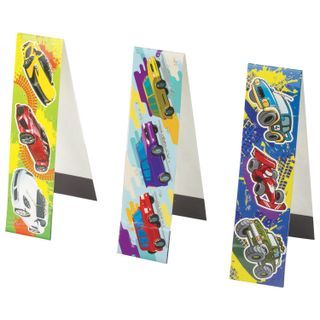 Bookmark with magnet MACHINE, set of 6 PCs, sequins, 25x196 mm, INLANDIA
