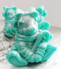 Mint bear - handmade gift soap