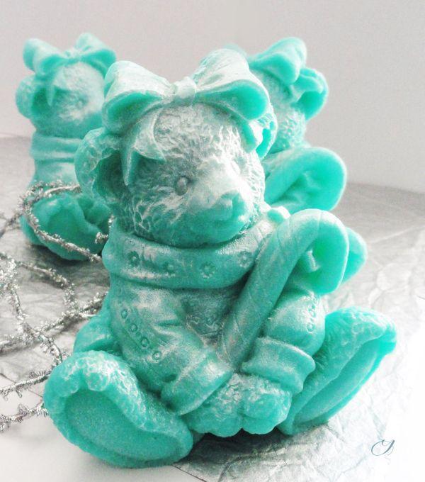 Mint bear - handmade gift soap