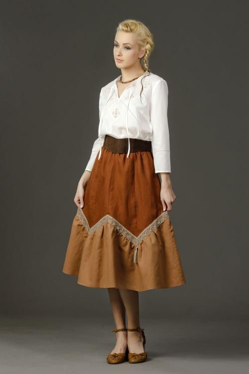 """Skirt women's """"Springs"""" with lace and tassels"""