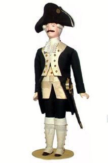 Doll gift. Cadet. The military uniform. The 2nd half of the 18th century. Russia.