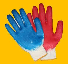 Cotton glove single PVC pouches