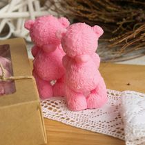 Olive soap Bear Modest dark pink