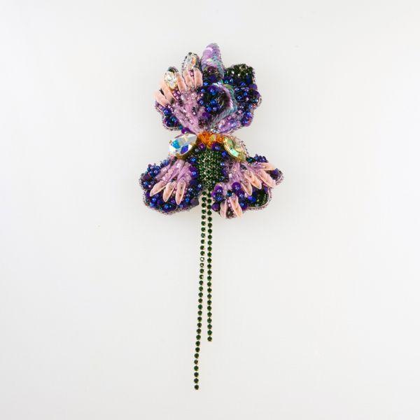 "Brooch handmade ""iris"""