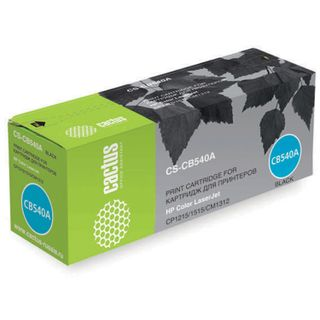 Toner cartridge CACTUS (CS-CB540A) for HP CLJ CP1215 / CP1515N / CM1312, black, yield 2200 pages.