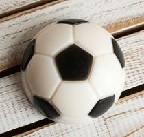 Handmade soap Soccer ball - a gift to the player