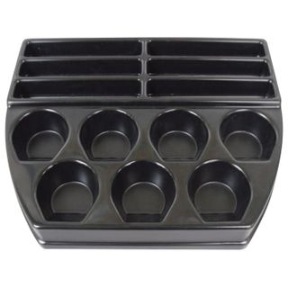 Cash tray М1 for receiving and issuing money, 350x290x45 mm, 6 slots for banknotes, 7 compartments for coins