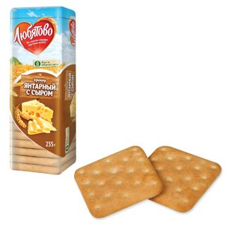 "LYUBYATOVO / Cookies-cracker ""Amber with cheese"", 235 g, spike"