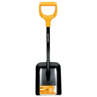 Shovel shovel FISKARS Solid, shortened, D-shaped handle, height 78 cm, steel handle