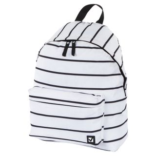 Backpack BRAUBERG, universal, city size, white stripe, 20 liters, 41х32х14 cm
