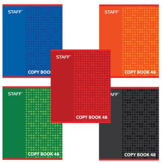 Notebook A5, 48 sheets, STAFF, cage, offset No2 ECONOM, cover cardboard,