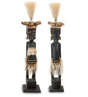 """Wooden statuette """"Asmat"""" black 50 cm"""