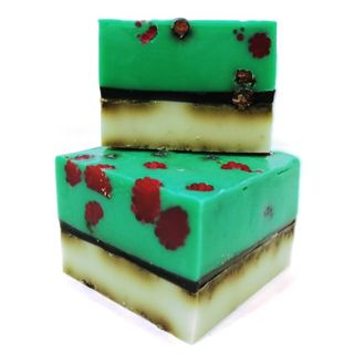 Handmade bar soap with herbs Raspberry 1kg