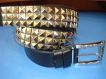 Strap with square metal studs