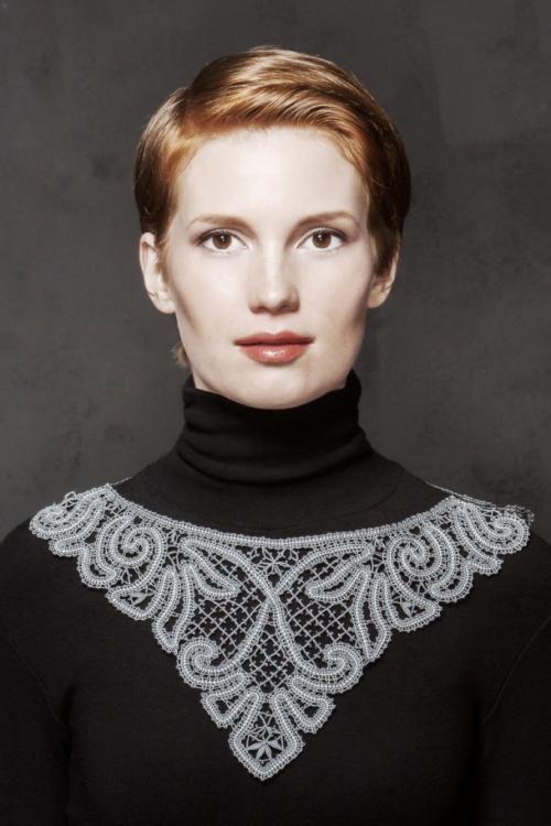 """Finish-lace necklace """"Art Nouveau"""""""