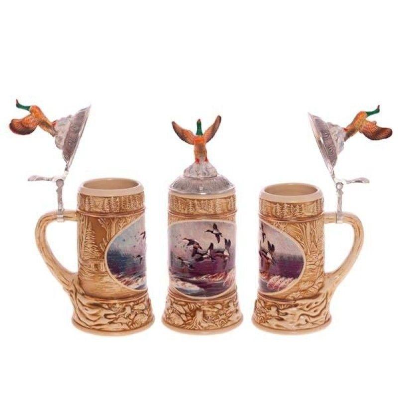 """Beer mug """"Duck"""" with lid 750ml."""