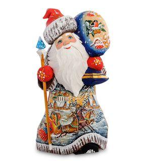 "Wooden figure ""Santa Claus with bag"" 24 cm"
