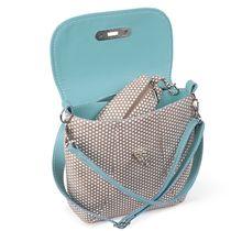 Leather bag Paris blue