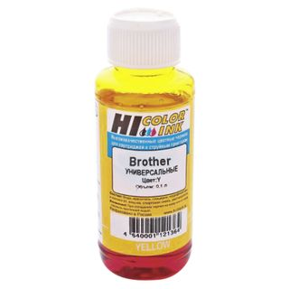 HI-COLOR ink for BROTHER universal, yellow, 0.1 l, water