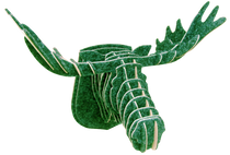 3D figure – Head of an elk KV Green