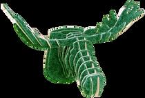 3D figure - Elk head KV Green