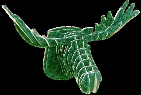 3D figure – Head of an elk KV Green