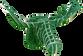 3D figure – Head of an elk KV Green - view 1