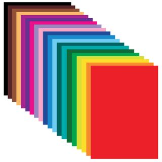Colored paper LARGE FORMAT (297x420 mm), A3, coated, 20 colors, folder, TREASURE ISLAND