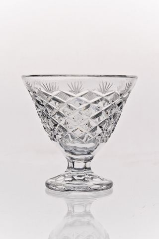 "Crystal vase for cream ""Rhombuses"" colorless"