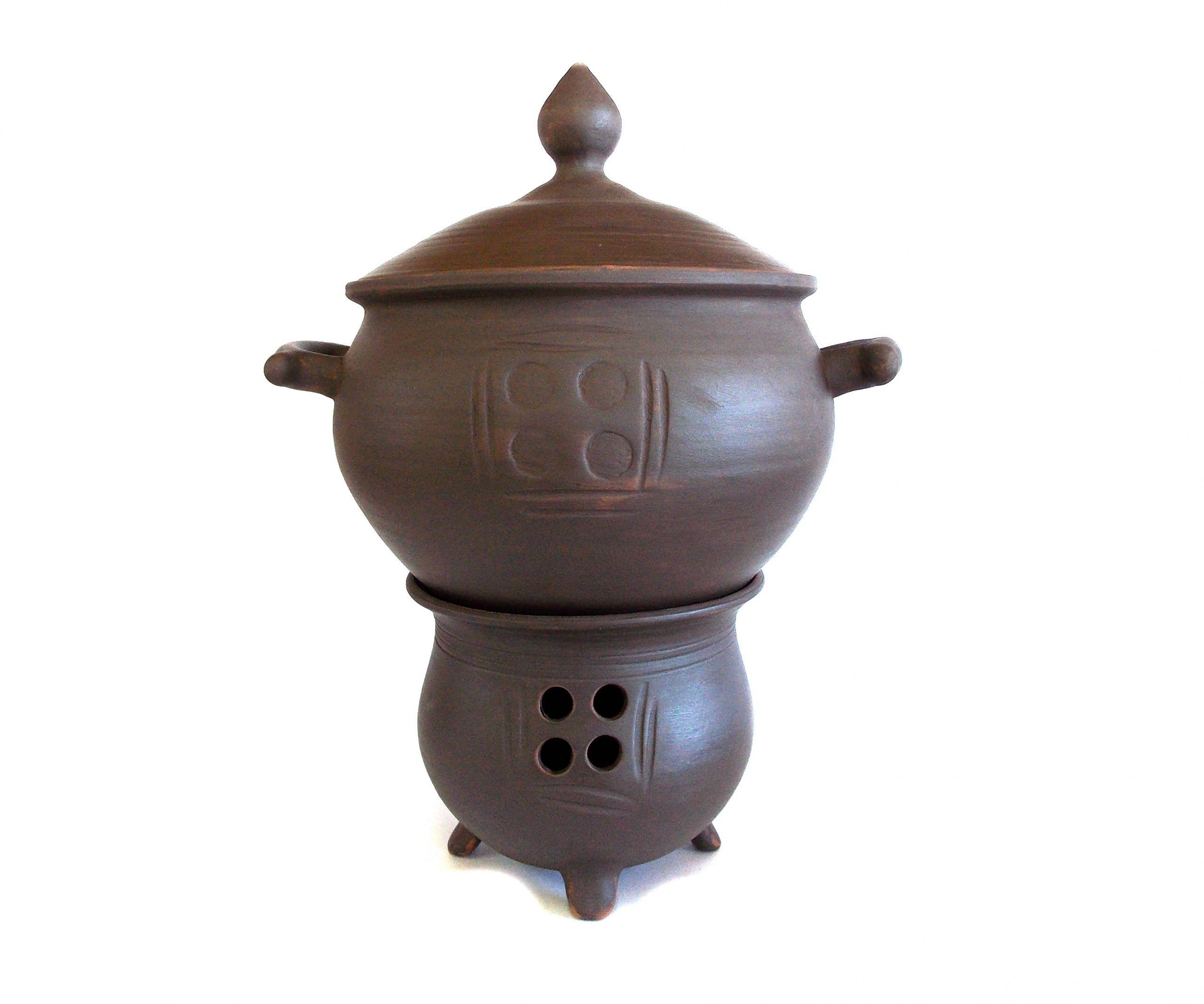 Tarusa artist / Shashlychnitsa: cauldron, 4.5 l + stand