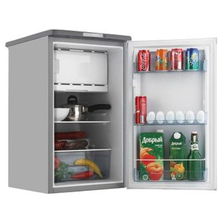 BERYSA M108 fridge, single-chamber, 115 litres, 27 litre freezer, silver