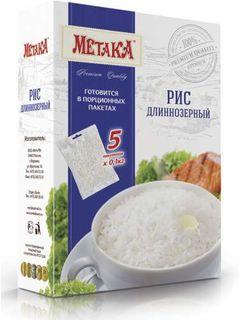 Long-grain rice - Premium Metaka cereal in cooking bags