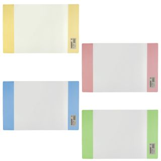 PVC cover for notebook and diary PYTHAGORAS, colored valves, dense, 120 microns, 210х350 mm