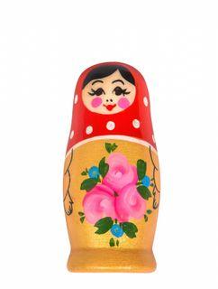 """Khokhloma painting / Wooden magnet """"Matryoshka"""" 70x35 mm"""