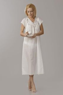 Chemise nightwear women's with embroidery and bow