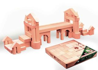 DESIGNER wooden TABLE in the open packaging in the thermo - 90 parts unpainted for children from 3 years