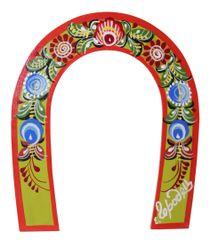 Gorodets painting / Souvenir horseshoe