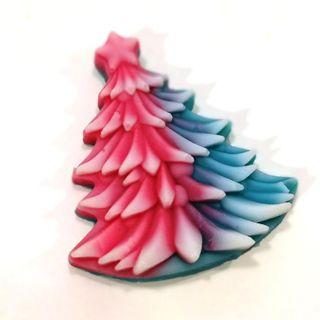 Handmade soap Christmas tree raspberry-almond